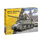 M4A1 Sherman With Infantry Kit ITALERI 1:35 IT6568