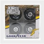 Accessories Set 4X Ruote 4X Wheels Goodyear Bigfoot Black Silver GREENLIGHT 1:18 GREEN13547