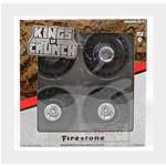 Accessories Set 4X Wheels Firestone Monster Truck Set 4 Ruote Silver Black GREENLIGHT 1:18 GREEN13558