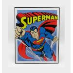 Accessories Metal Plate Superman Retro Blue Red Yellow Cm 32 X 41 EDICOLA 1:1 EDD1402