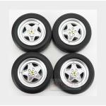 Accessories Ferrari 328Gts/Gtb 4X Wheels And Tyre Set 1985 Black KK SCALE 1:18 KKDCACC007