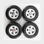 Accessories Ferrari 512Bb -365Gt4/Bb 4X Wheels And Tyre Set 1973 Black KK SCALE 1:18 KKDCACC008